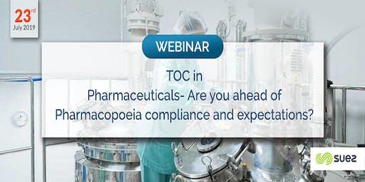 Webinar on TOC  in Pharmaceuticals Industry    Suez TOC Webinar 2019