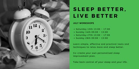 Sleep Better, Live Better: July Workshops  tickets