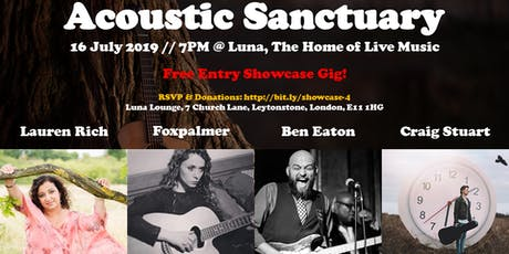 Showcase #4: Lauren Rich // Foxpalmer // Ben Eaton // Craig Stuart tickets