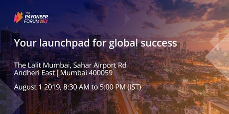Payoneer Forum Mumbai: Your Launchpad for Global Success tickets