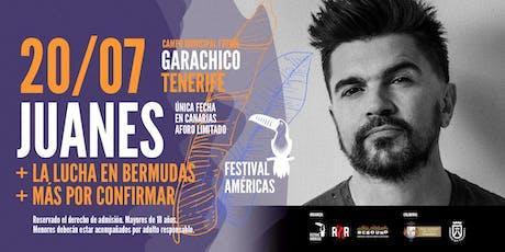 Juanes: Festival Américas en Garachico entradas