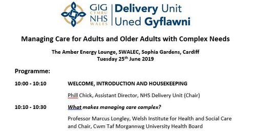 Managing Care for Adults and Older Adults with complex needs