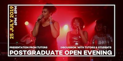 LCCM Postgraduate Open Evening