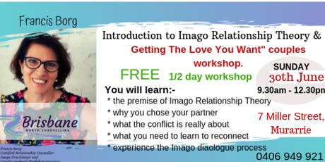 Introducing The Imago Relationship Theory - for Couples and Singles tickets