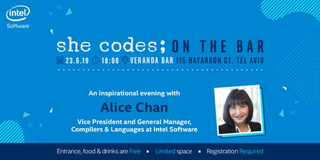 she codes; on the bar tickets