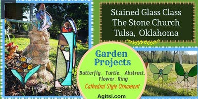 Stained Glass Garden Ornament Class, Beginner Friendly Lead Project