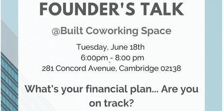 Founder's Talk - Do you have a personal financial plan? tickets