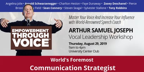 Vocal Leadership: Empowerment Through Voice with Arthur Joseph tickets