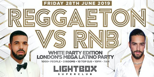 """REGGAETON VS RNB WHITE PARTY EDITION """"LONDON'S MEGA LATIN PARTY"""" @ FIRE SUPER CLUB"""