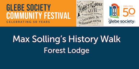Max Solling's History Walk 3: Repeat of Forest Lodge Walk tickets