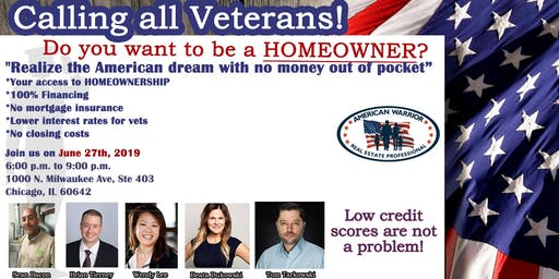 Do you want to be a HOMEOWNER? FREE Veteran Event!