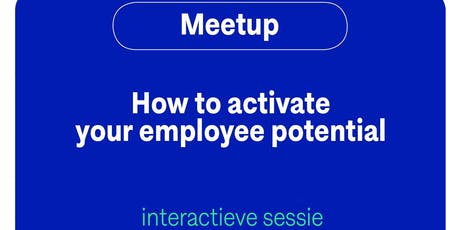 How to activate employee potential (Dutch) tickets