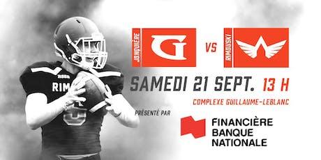 Jonquière VS. Rimouski - Match Financière Banque Nationale billets