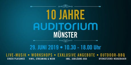 10 Jahre AUDITORIUM Münster Tickets