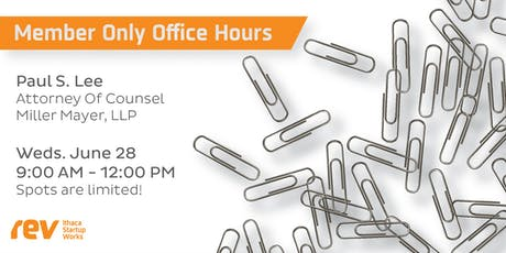 Copy of Members Only: Office Hours with Miller Mayer LLP tickets