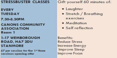 Stress buster classes tickets
