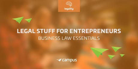 Legal Stuff for Entrepreneurs: Business Law Essentials tickets