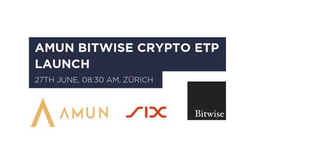 Amun Bitwise Crypto ETP Launch tickets
