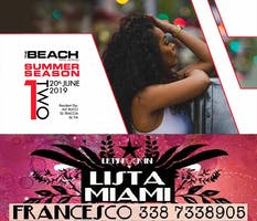 THE BEACH CLUB MILANO - GIOVEDI 20 GIUGNO 2019 - ONE TWO - HIP HOP RNB REGGAETON PARTY - LISTA MIAMI - LISTE E TAVOLI 338-7338905