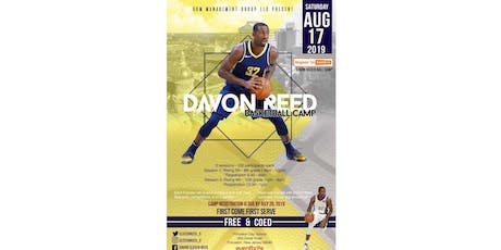 DAVON REED B-BALL CAMP - Session #1 (Grades 7-8) tickets