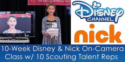 10-Week Disney & Nick On-Camera Class w/ 10 Scouting Talent Reps