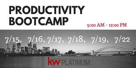 Producitivity Bootcamp - July tickets