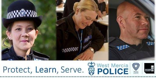 Student police officer recruitment open evening