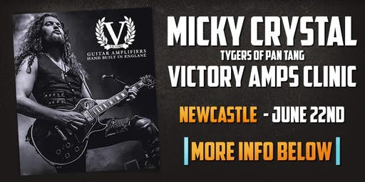 Micky Crystal (Tygers of Pan Tang) Clinic at guitarguitar Newcastle