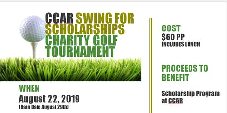 Swing For Scholarships Charity Golf Tournament 2019 - CCAR tickets