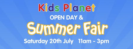Kids Planet Dukinfield Summer Open Day