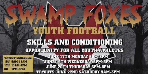 12u Swamp Fox football tryouts