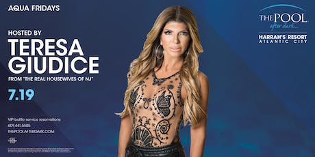 Teresa Giudice at The Pool After Dark - Aqua Fridays FREE Guestlist tickets