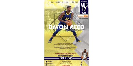 DAVON REED B-BALL CAMP - Session #2 (Grades 11-12)  tickets