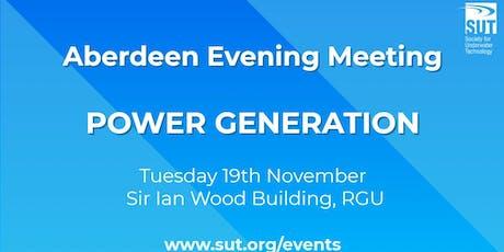 Aberdeen Evening Meeting - Power Generation tickets