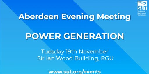 Aberdeen Evening Meeting - Power Generation