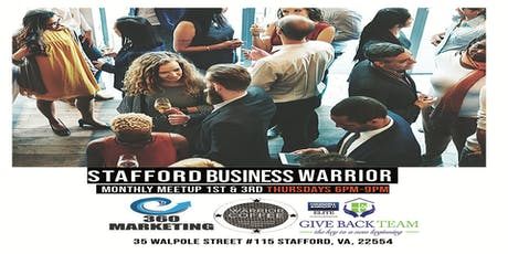 Stafford Business Warrior Happy Hour Networking - First Drink on Us! tickets