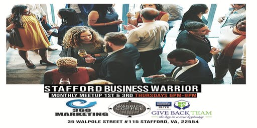Stafford Business Warrior Happy Hour Networking - First Drink on Us!