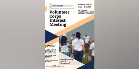 Volunteer Corp Interest Happy Hour tickets