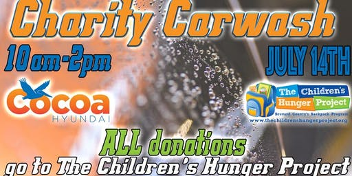 Charity Carwash for The Children's Hunger Project
