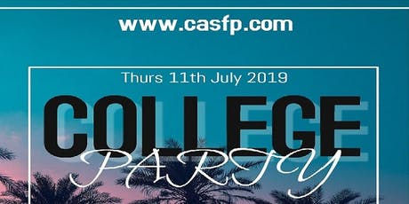 College Party Nottingham (Thurs-11th-July) Early Birds tickets