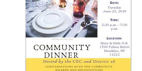 District 16 Community Dinner tickets