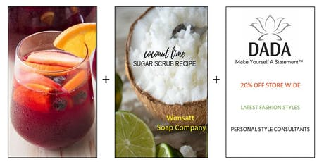 Sip + Scrub + Shop tickets