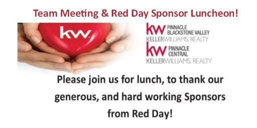 Team Meeting & Red Day Sponsor Luncheon