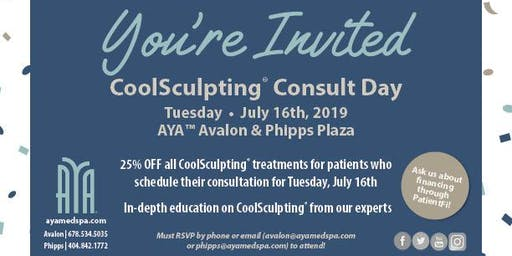 AYA™ Medical Spa Avalon CoolSculpting® Consult Day