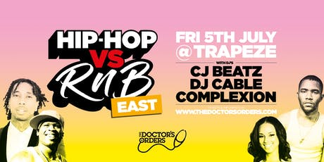 Hip-Hop vs RnB – East tickets