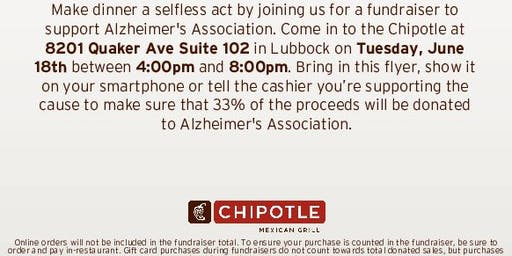 Chipotle Fundraiser benefiting the West Texas Alzheimer's Assoc.
