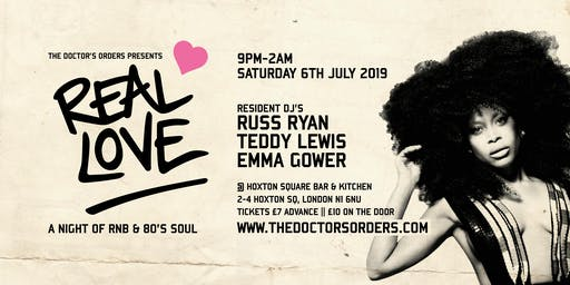 Real Love - A Night of RnB & 80's Soul