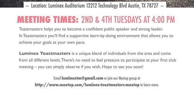 Luminex Toastmasters