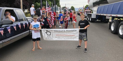 Float in The Harrisburg  4th of July Parade