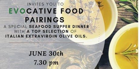 EVOcative FOOD PAIRING: Italian Extravirgin Olive Oil meets Seafood tickets